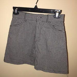 John Galt cotton gingham mini skirt